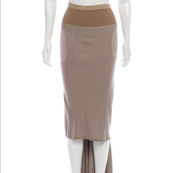 733b26ae3d Rick Owens high low maxi skirt. M_5cc718fcde696ab96979efce
